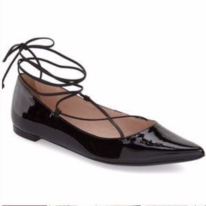 EUC Kate Spade Lace Up Pointed Toe Flats